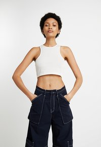 Weekday - 100% RECYCLED COLLECTION COMPOSURE CROP - Top - natural off white - 0