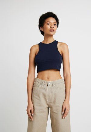 100% RECYCLED COLLECTION COMPOSURE CROP - Top - nit blue