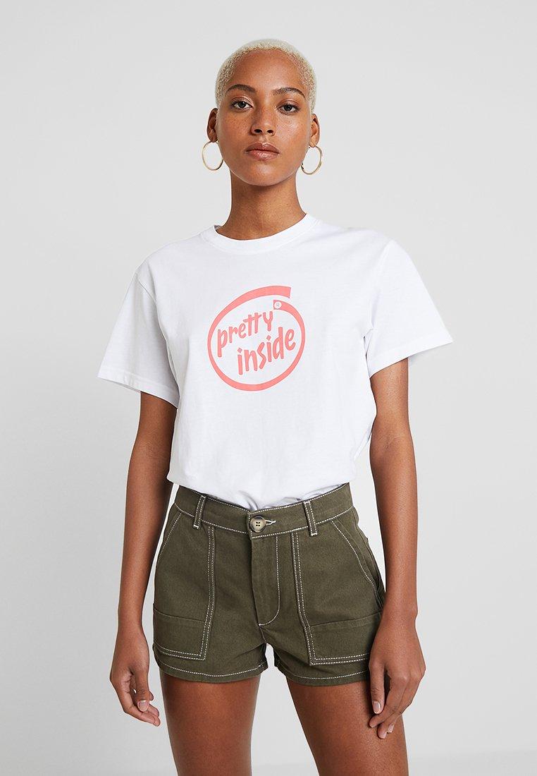 Weekday - ALANIS  - T-Shirt print - white
