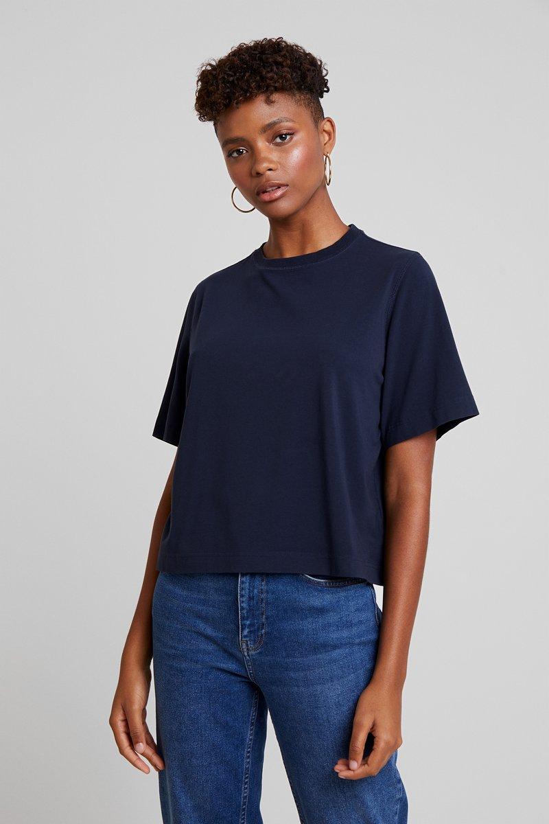 Weekday - TRISH - Basic T-shirt - navy