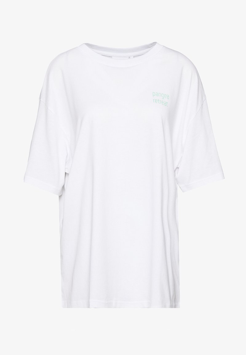 Weekday - EASY - Print T-shirt - white