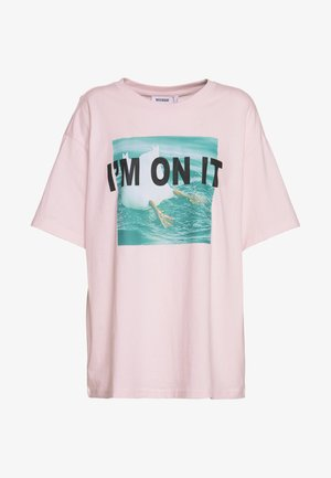 EASY - T-shirts med print - pink