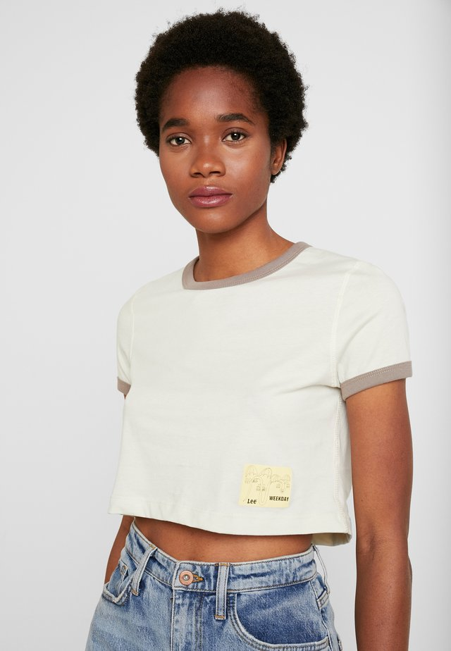 CREWNECK - T-Shirt print - ecru