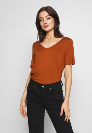 ABBY - T-shirt basic - rust