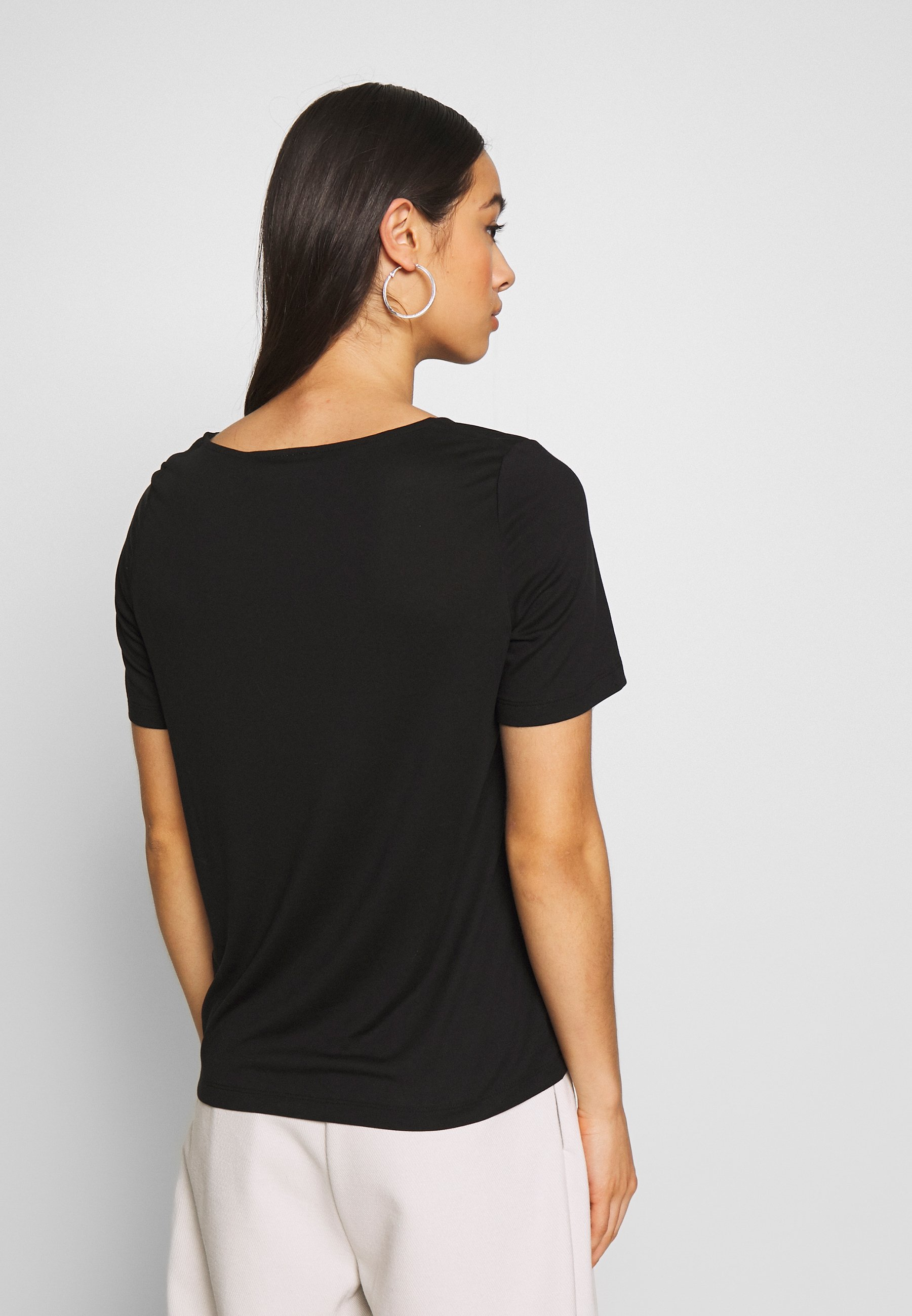Weekday ABBY - T-shirts - black