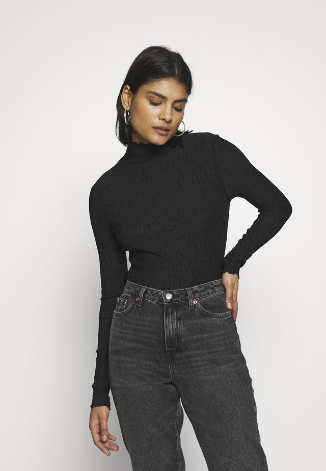 BARBARA LONG SLEEVE - Bluzka z długim rękawem - black