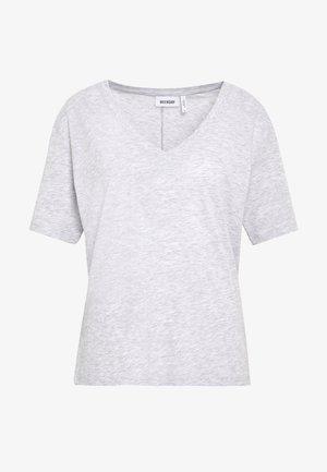 LAST V-NECK - T-shirts basic - grey melange