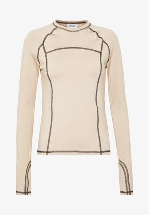 AMY LONG SLEEVE - Top s dlouhým rukávem - beige/black