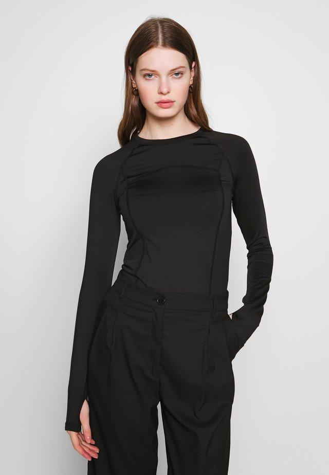 AMY LONG SLEEVE - Bluzka z długim rękawem - black