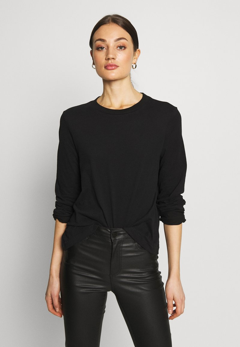 Weekday - CARRIE LONG SLEEVE - Maglietta a manica lunga - black