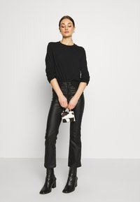 Weekday - CARRIE LONG SLEEVE - Maglietta a manica lunga - black - 1