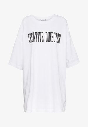 HUGE PRINTED  - T-shirt z nadrukiem - white