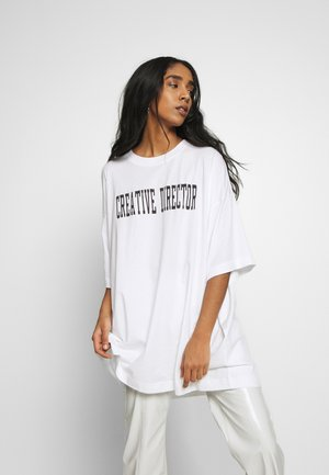 HUGE - T-shirts med print - white