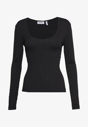 JULIANA SCOOPED LONG SLEEVE - Bluzka z długim rękawem - black