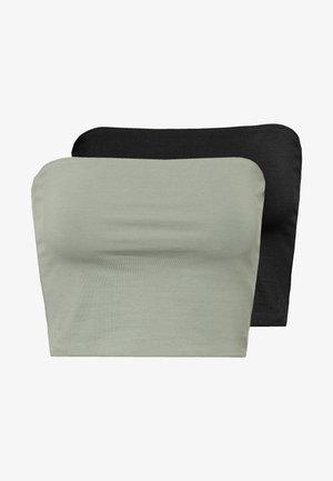ADDILYN TUBE 2 PACK - Topper - black/sage green