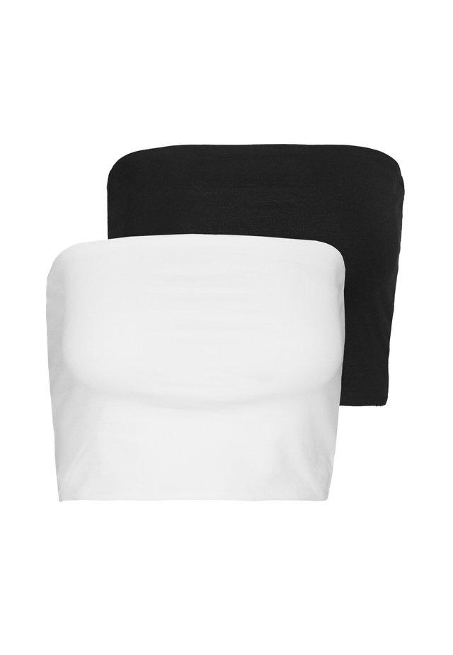 ADDILYN TUBE 2 PACK - Débardeur - black/white