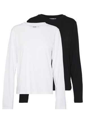 ALANIS 2 PACK - Langærmede T-shirts - black/white