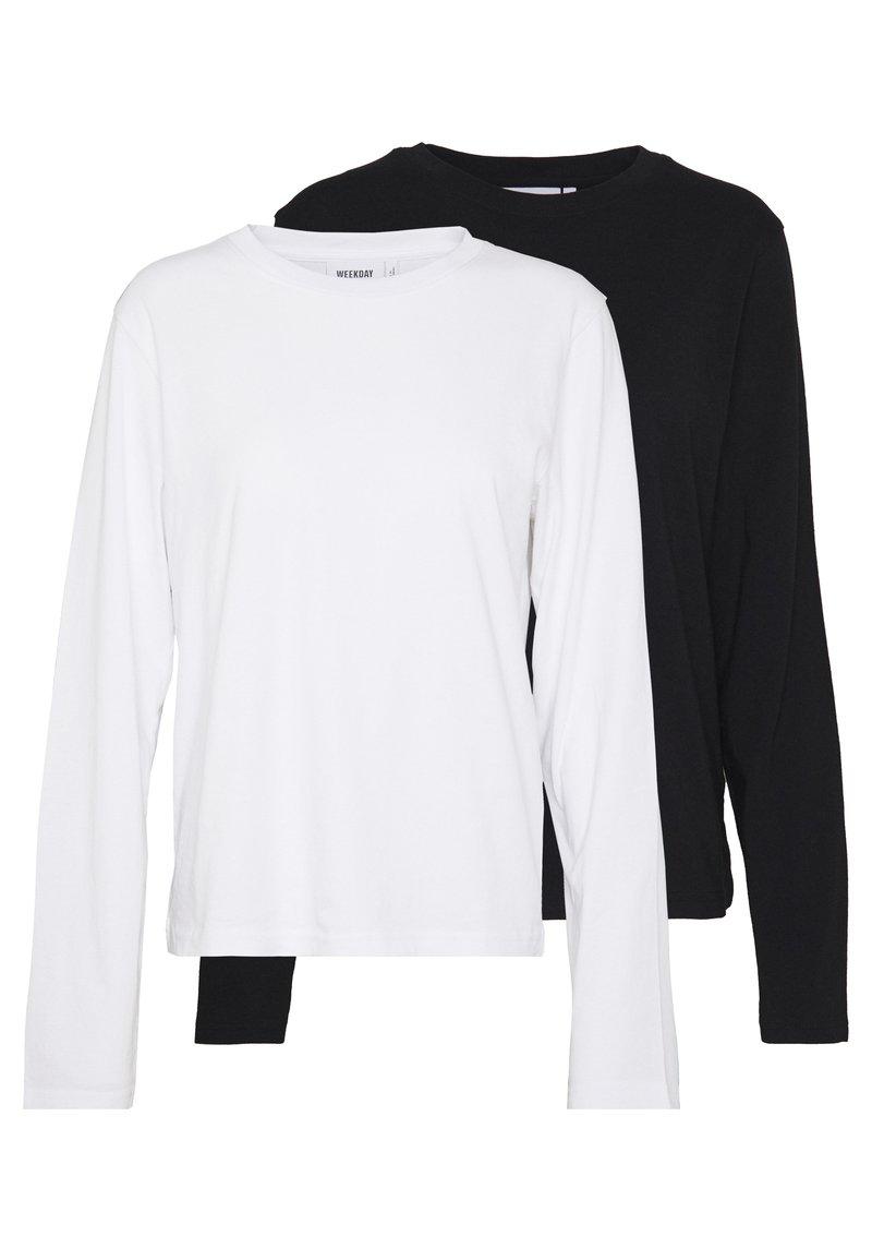 Weekday - ALANIS 2 PACK - Topper langermet - black/white