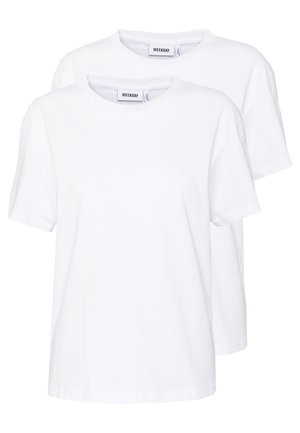 ALANIS 2 PACK - Basic T-shirt - white