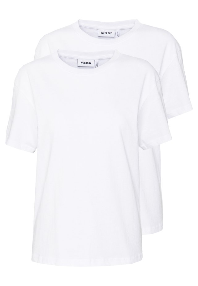 ALANIS 2 PACK - T-shirt basic - white