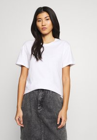 Weekday - ALANIS 2 PACK - T-shirts - white - 2