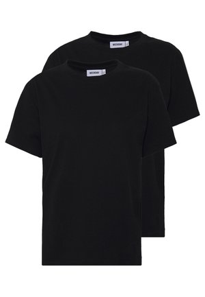 ALANIS 2 PACK - T-shirts - black/black