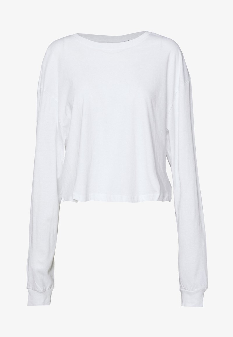 Weekday - ALLY BOXY LONG SLEEVE - Long sleeved top - white