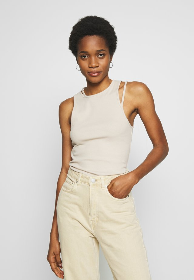 CALYPSO CUT OUT TANK - Top - beige