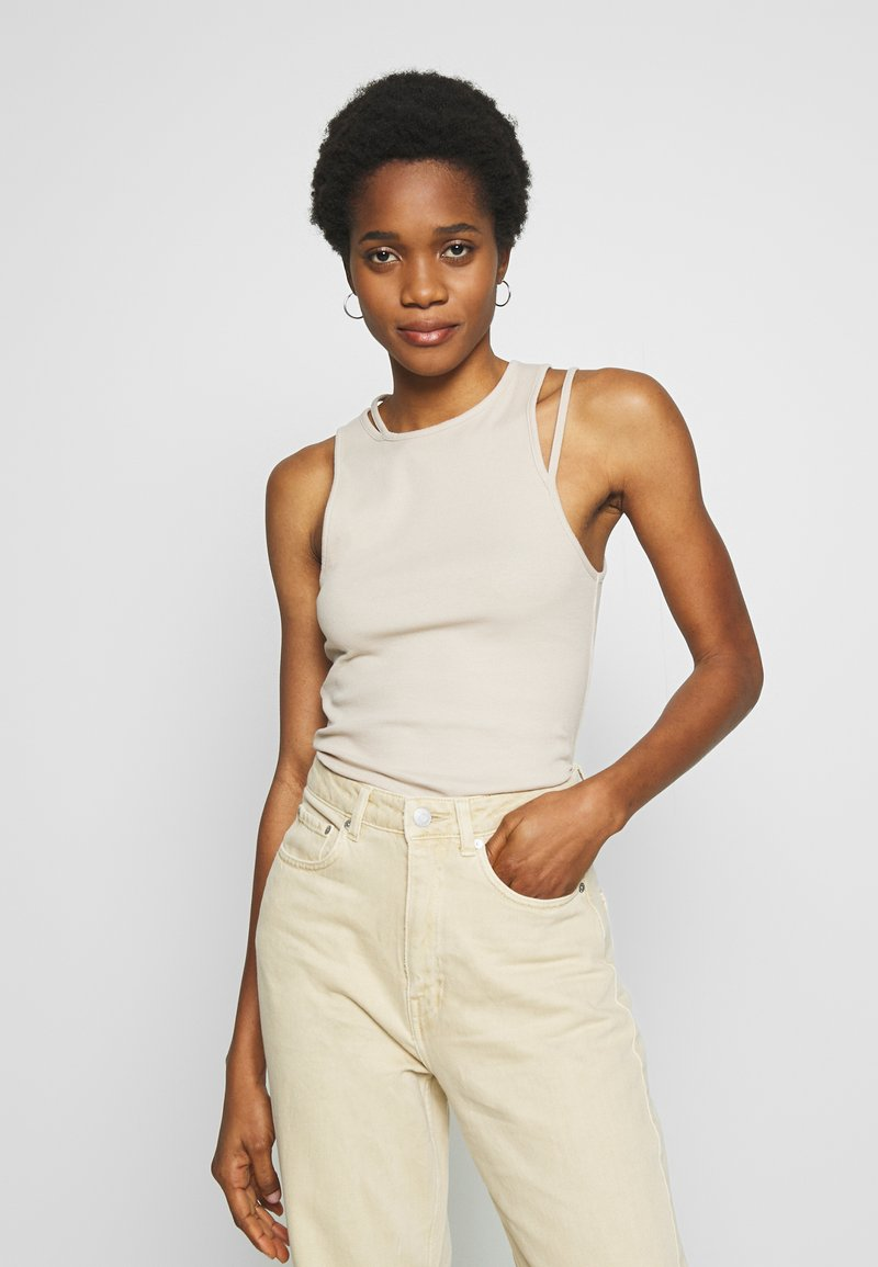 Weekday - CALYPSO CUT OUT TANK - Top - beige