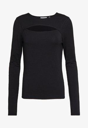 CARLA CUT OUT LONG SLEEVE - Maglietta a manica lunga - black