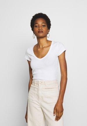 NINA V NECK - T-shirt basique - white