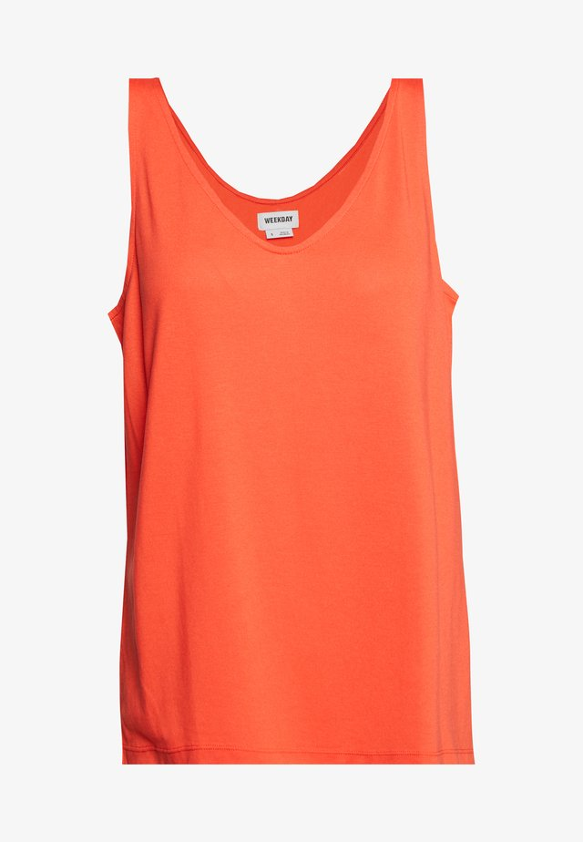 ABBY V NECK TANK - Top - bright red