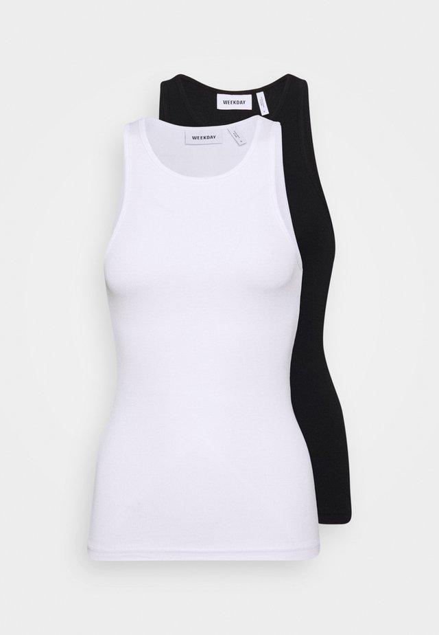 STELLA TANK 2 PACK  - Top - black/white
