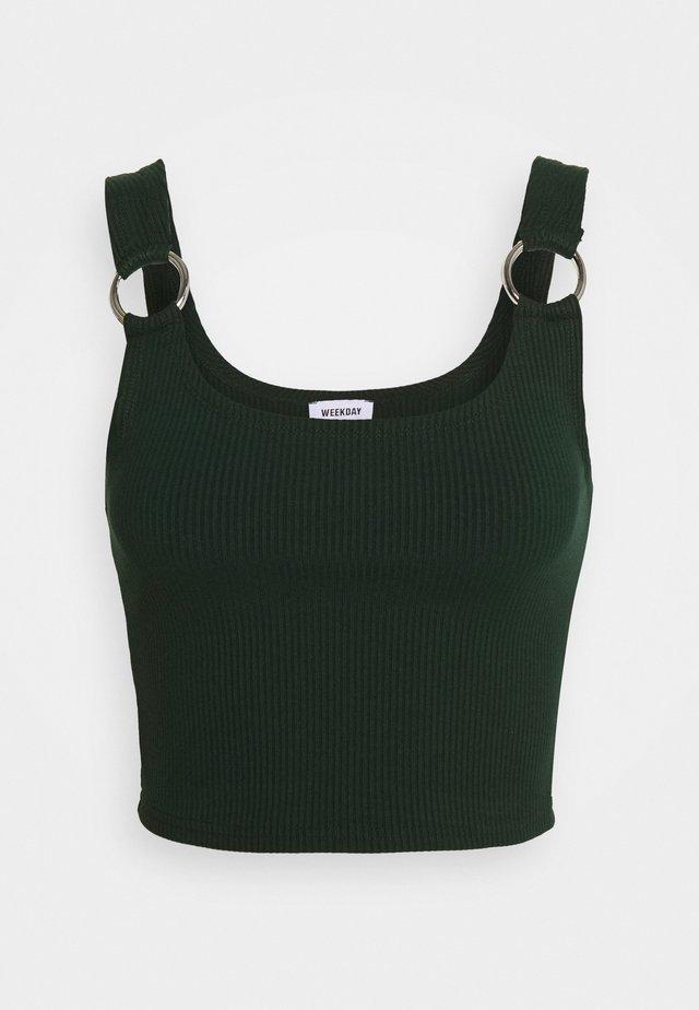 PIERA SINGLET - Topper - bottle green