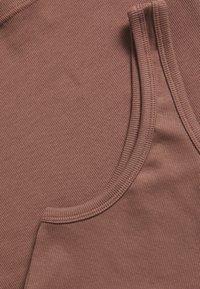 Weekday - VIDA ONE SHOULDER - Top - dusty brown - 2