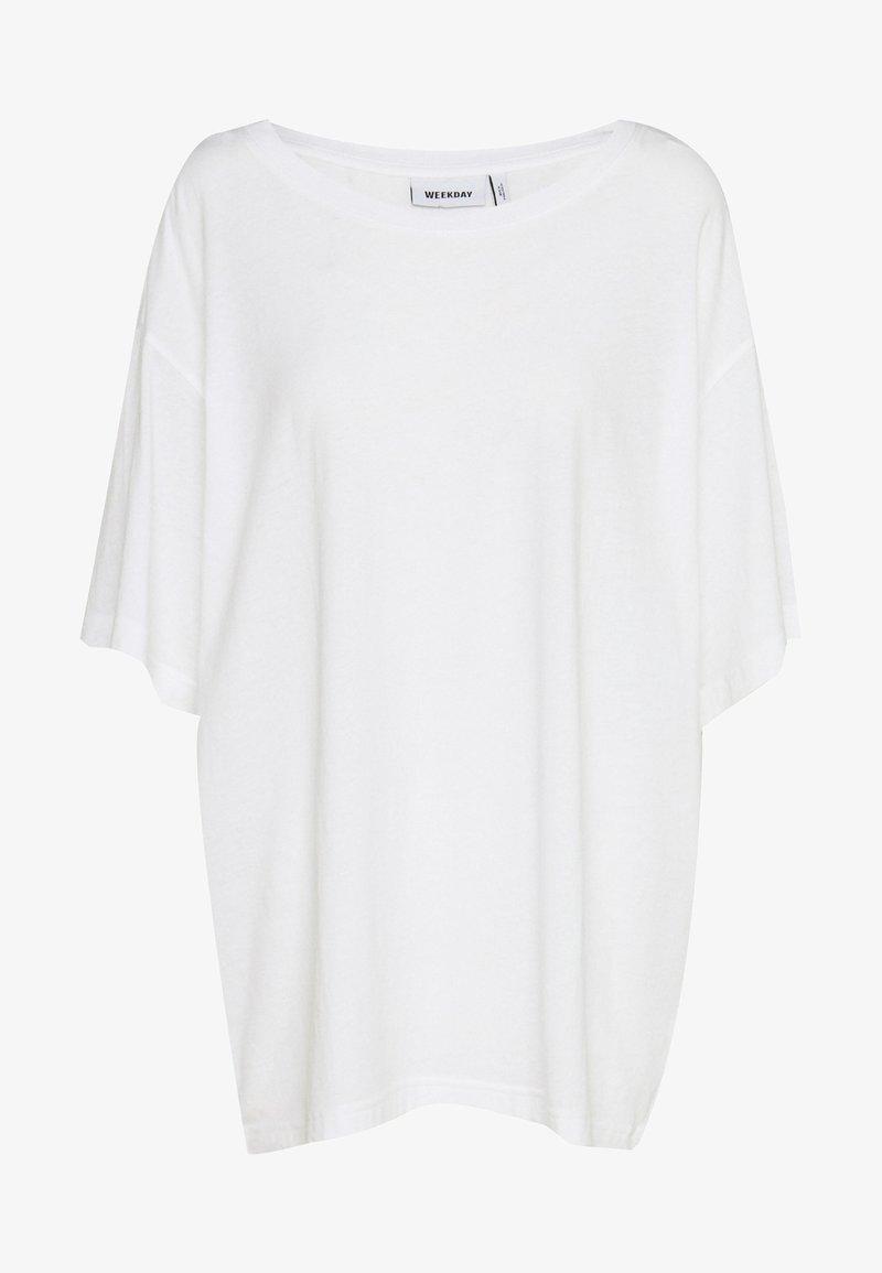 Weekday - REBECCA - T-shirt basique - white