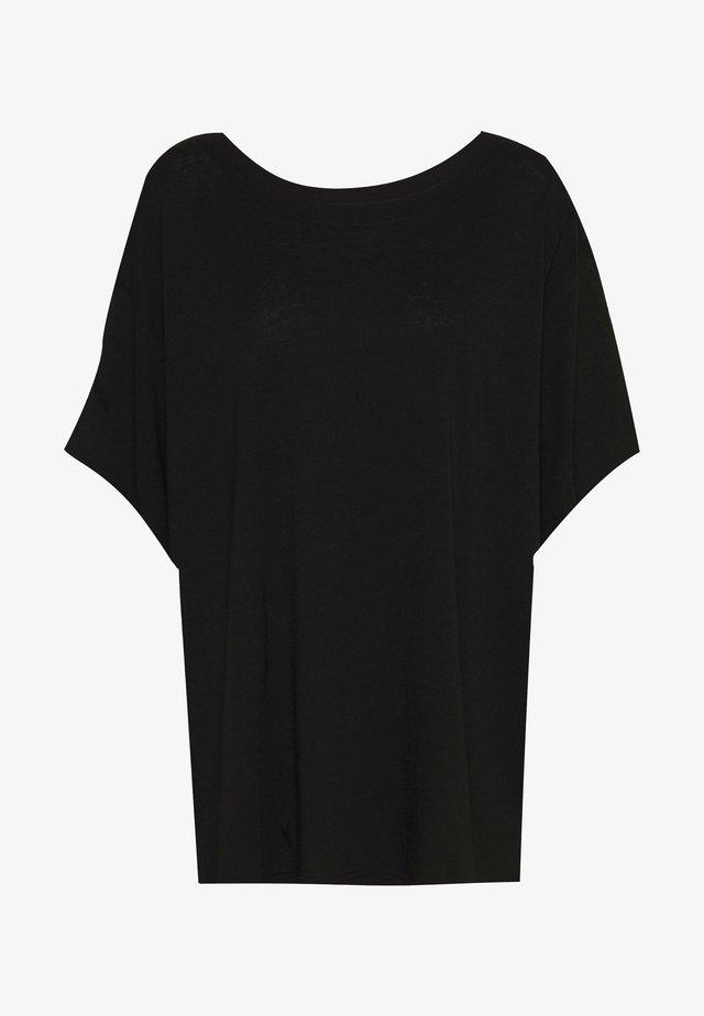 REBECCA - T-Shirt basic - black