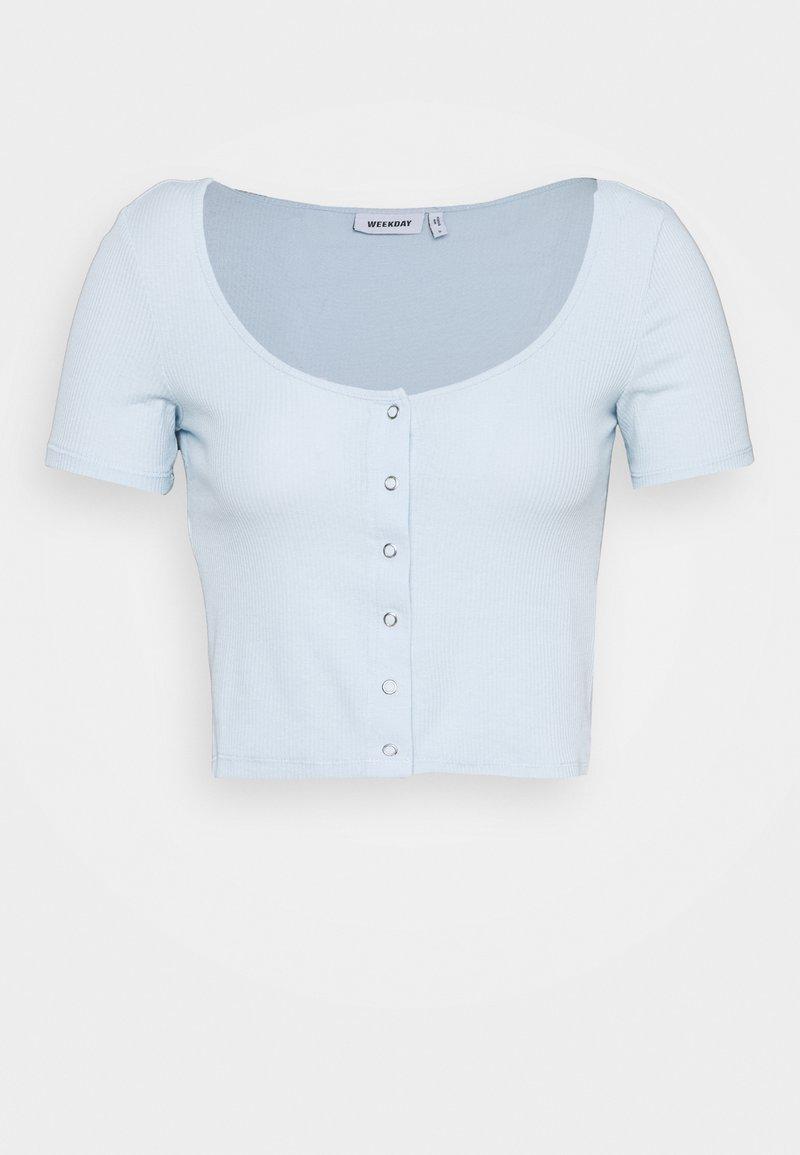 Weekday - BARTOLA - Camiseta básica - ligth blue
