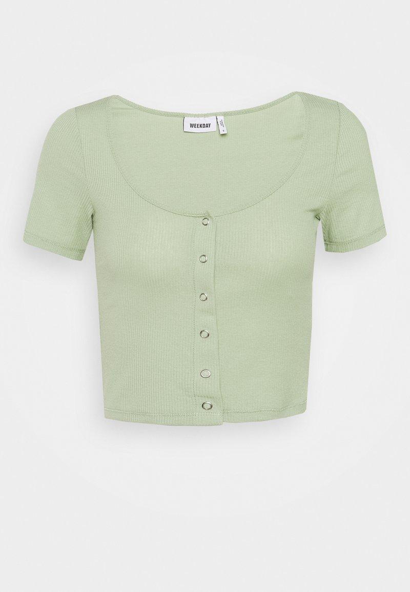 Weekday - BARTOLA - Camiseta básica - pistachio