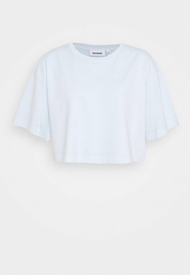 Weekday - ALLY - T-Shirt basic - light blue