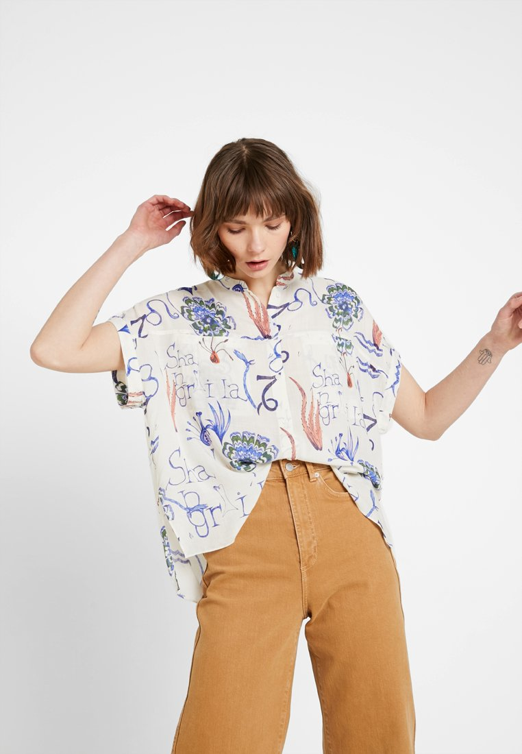 Weekday - TILLIE  - Camicia - offwhite/purple