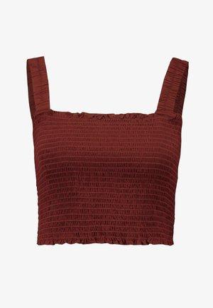 SCENE TANK - Top - rust red