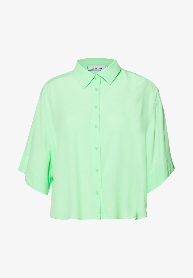 HALL - Button-down blouse - solid light green