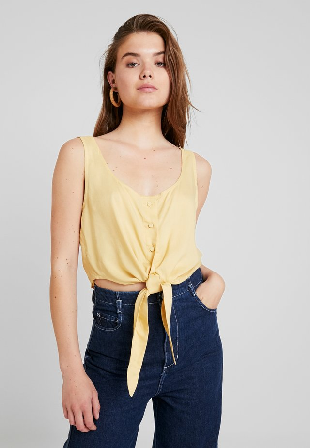 JESSA TANK - Bluser - solid yellow