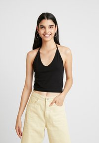 Weekday - FLORA HALTERNECK SINGLET - Top - black - 0