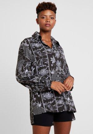 HARRIET BLOUSE - Button-down blouse - black/white