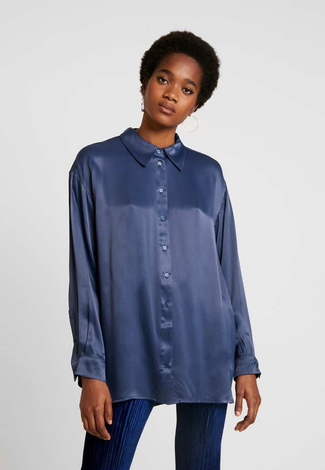 CAROL - Button-down blouse - blue medium dusty