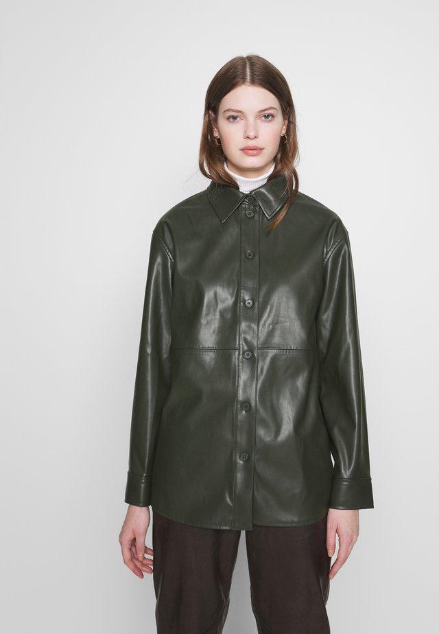 LEXI - Button-down blouse - dark dusty green