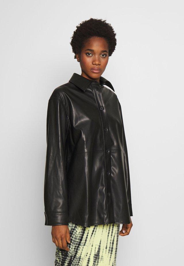 LEXI - Button-down blouse - black