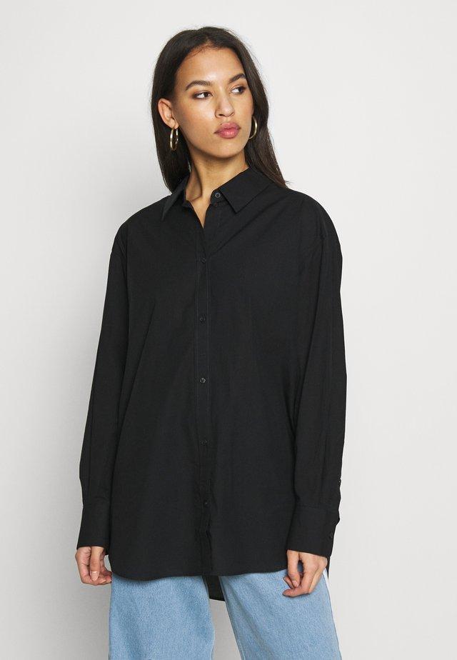 EDYN SHIRT - Button-down blouse - black